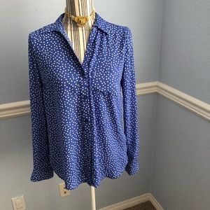 The limited purple white polka dot shirt
